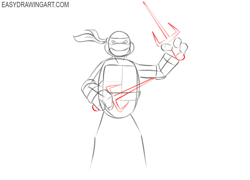 How to draw a Ninja Turtle for beginners