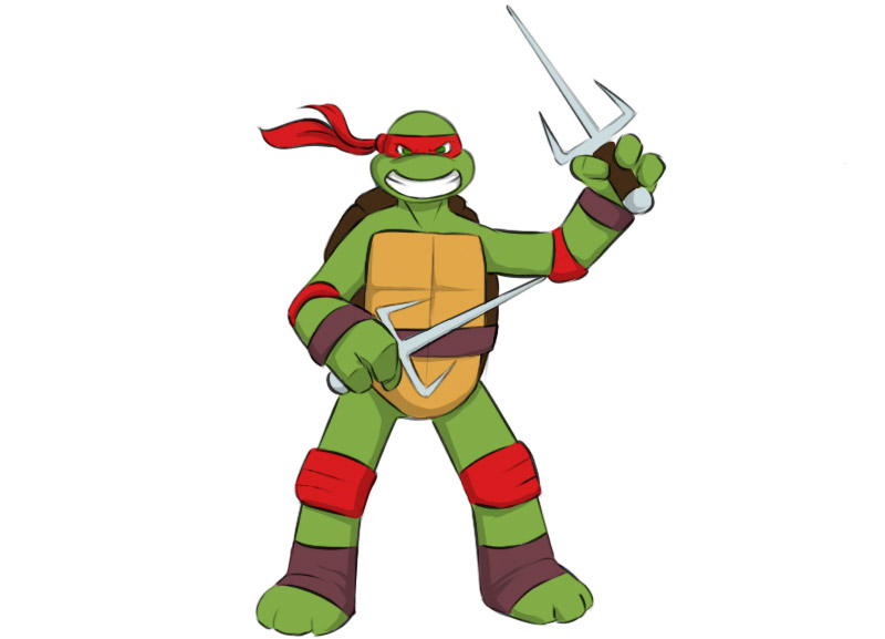 How To Draw A Ninja Turtle Easy Drawing Art
