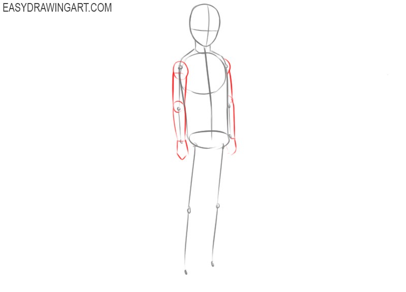 How to draw a anime body