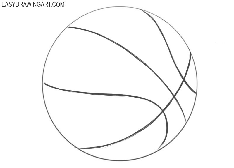 How to draw a basketball for beginners