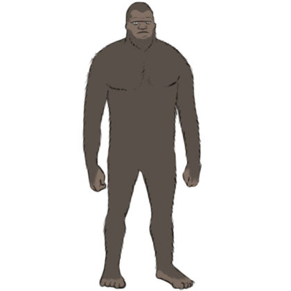 How to draw a bigfoot