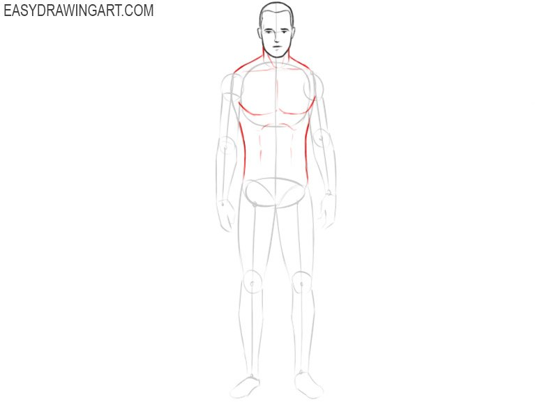 How to draw a body and face