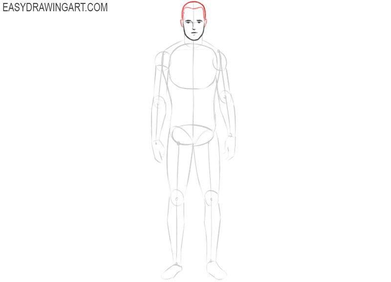 How to draw a body base