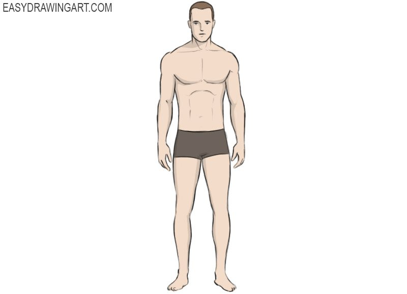 How To Draw A Body Easy Drawing Art