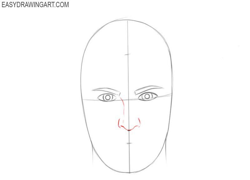 How to draw a face shape