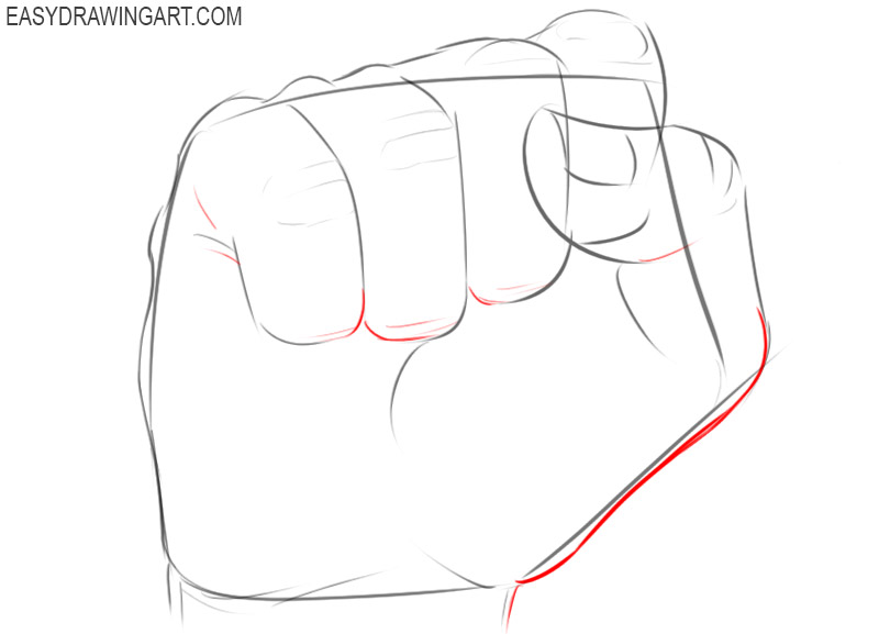 How to draw a fist easy