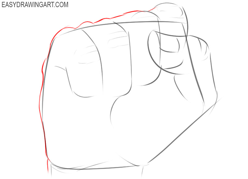How to draw a fist for beginners