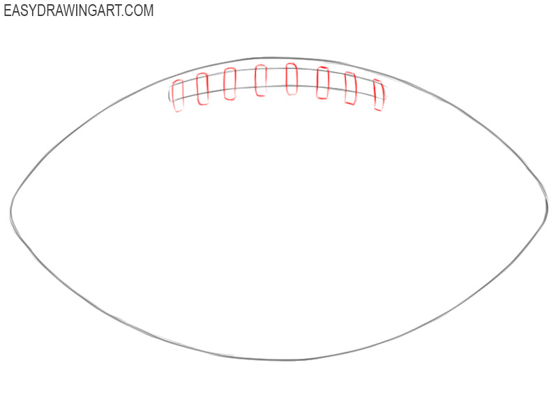 How to draw a football for beginners step by step