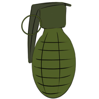 How to draw a grenade