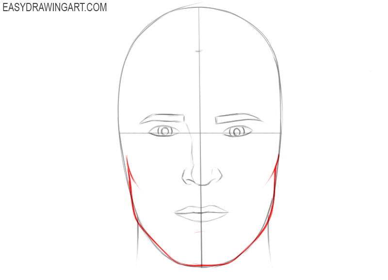 How to draw a head step by step