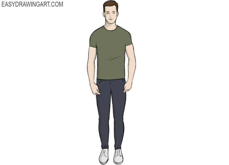 How to draw a human