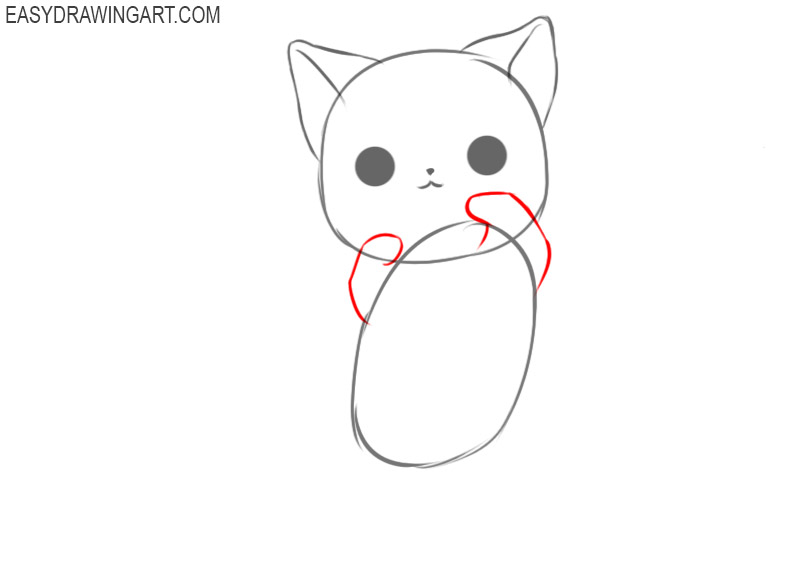 How to draw a kawaii cat for beginners