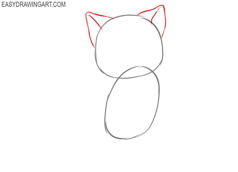 How to draw a kawaii cat for kids
