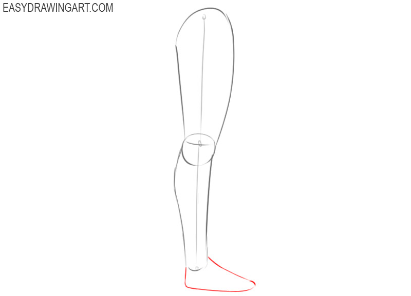 How to draw a leg easy