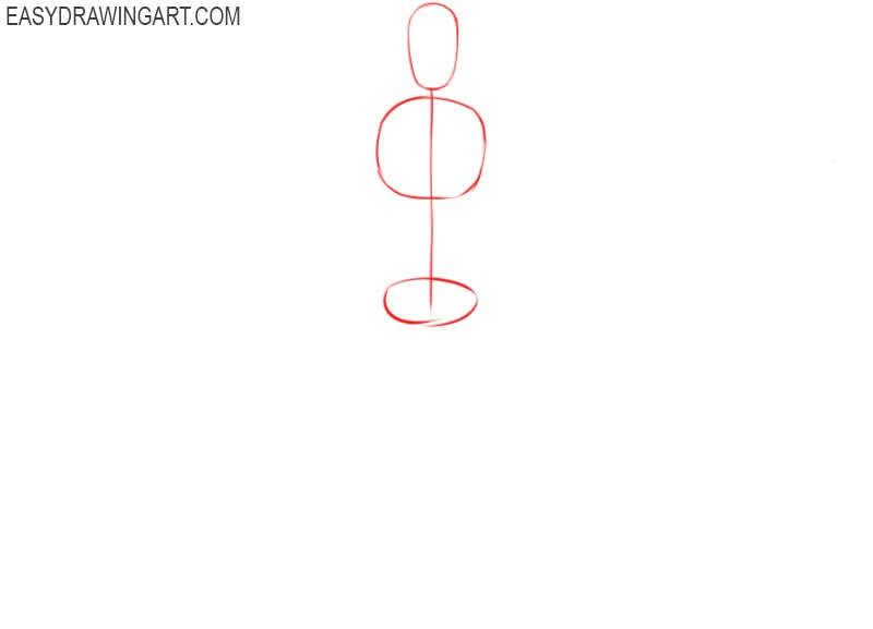 How to draw a male body easy