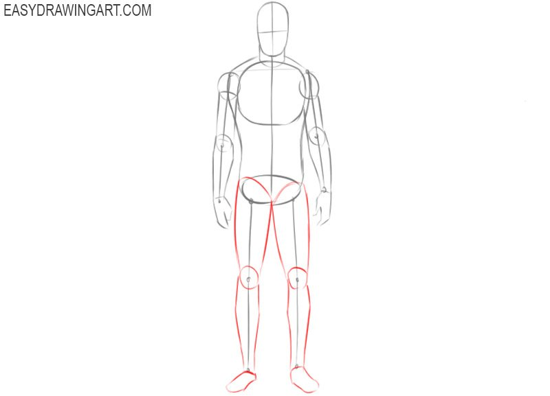 How to draw a male body