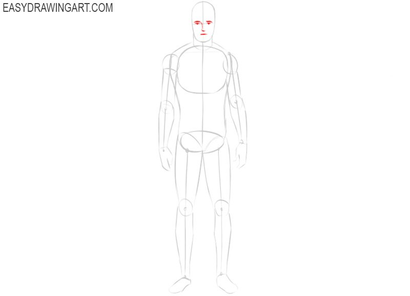 How to draw a men body