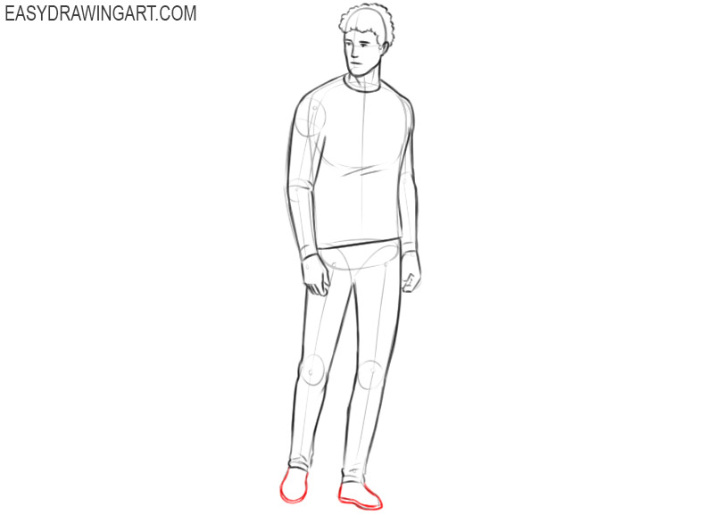 How to draw a person easy