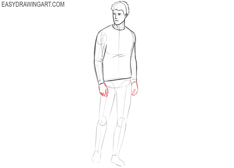 How to draw a person step by step