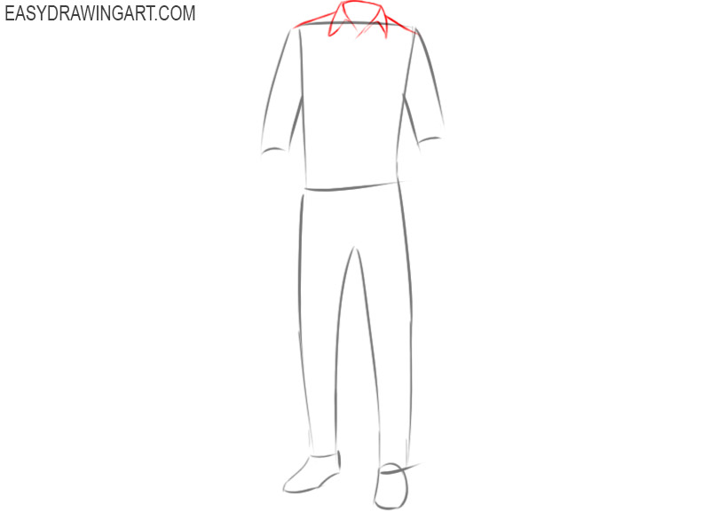 How to draw a shirt and pants