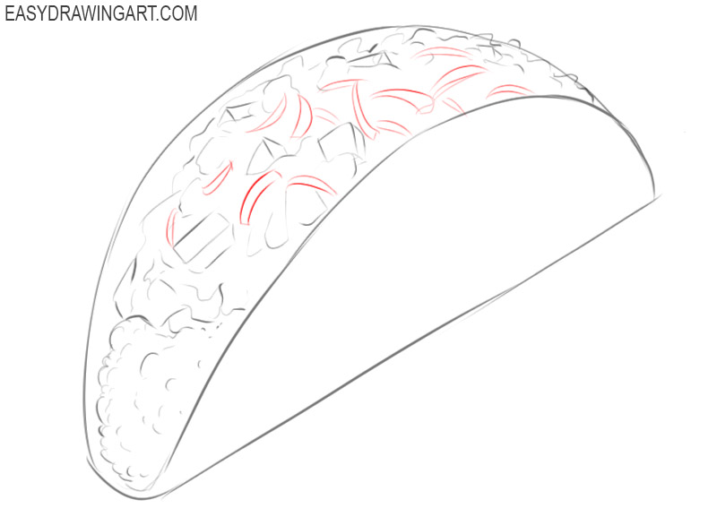 How to draw a taco easy