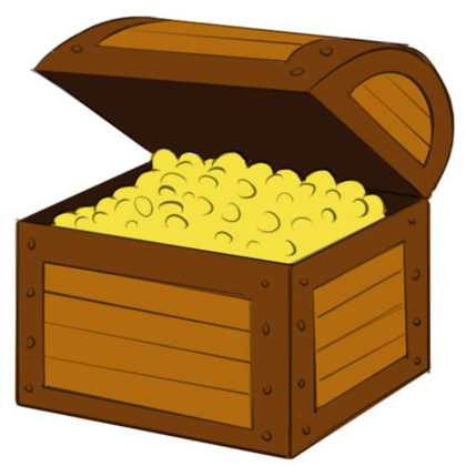 How to draw a treasure chest