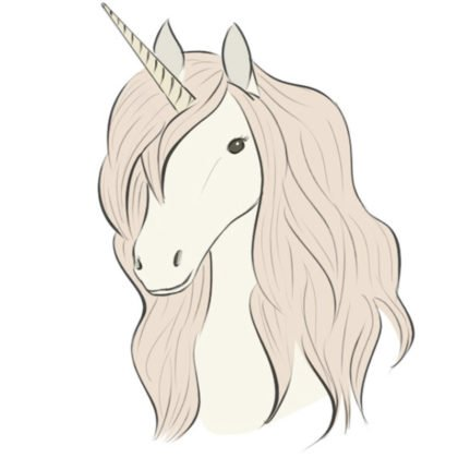 How to draw a unicorn head