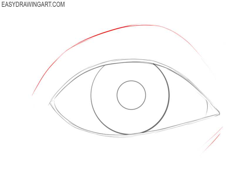 How to draw an eye basic