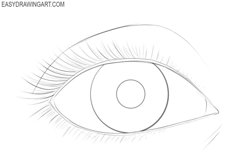 How to draw an eye easy step by step