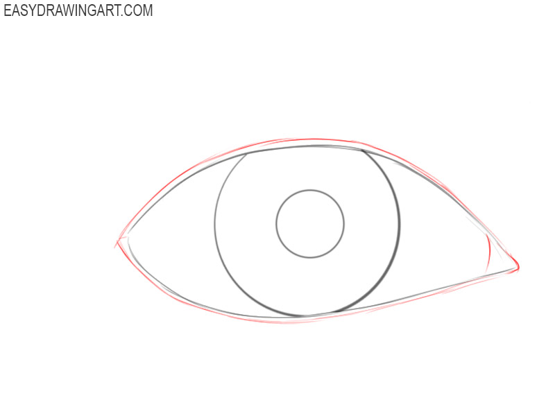 How to draw an eye step by step easy
