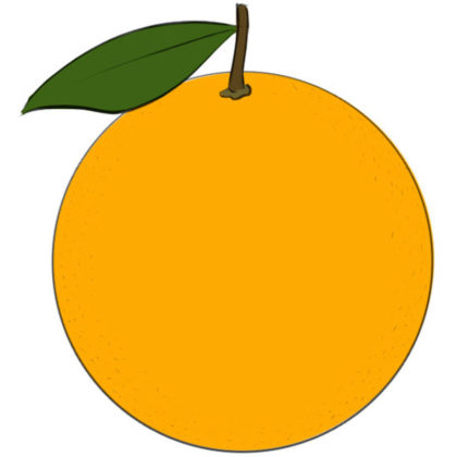 How to draw an orange