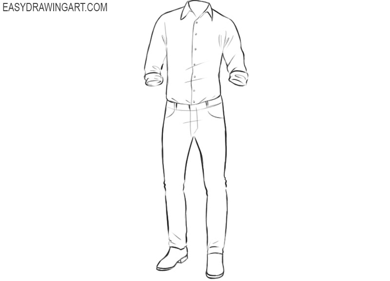 How to draw clothes easy