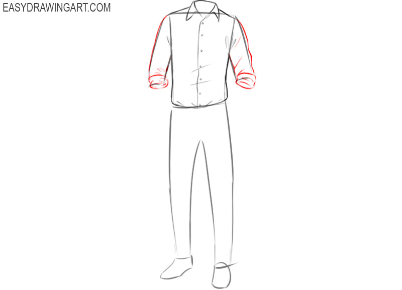How to draw clothes in pencil