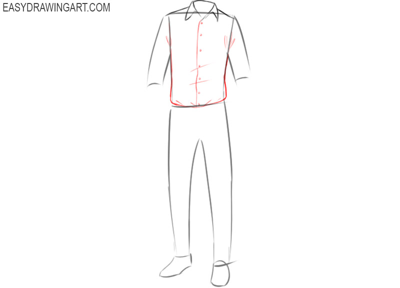 How to draw clothes realistic