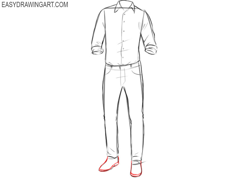 How to draw clothes step by step