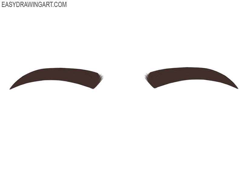 How to draw eyebrows