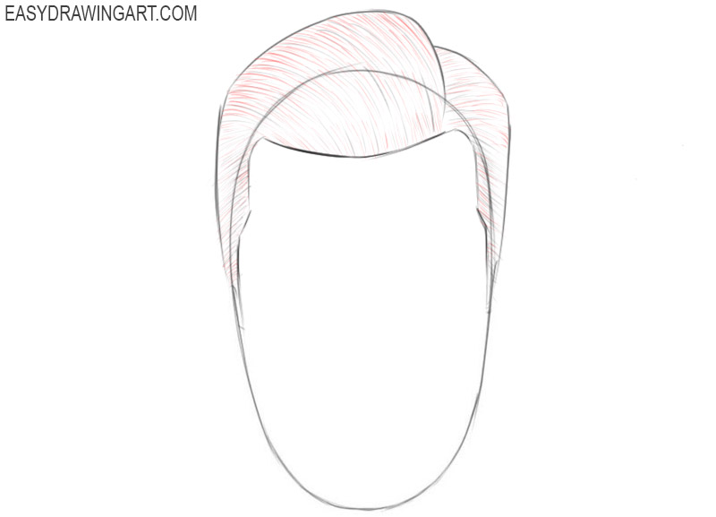 How to draw hair for beginners