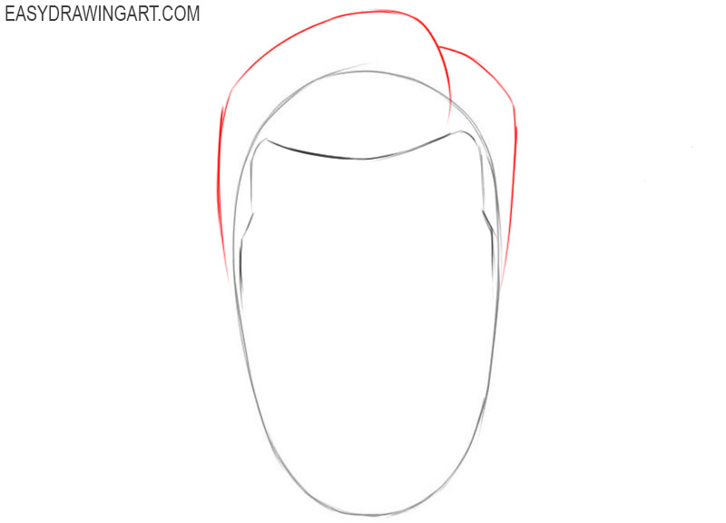 How to draw hair on a head