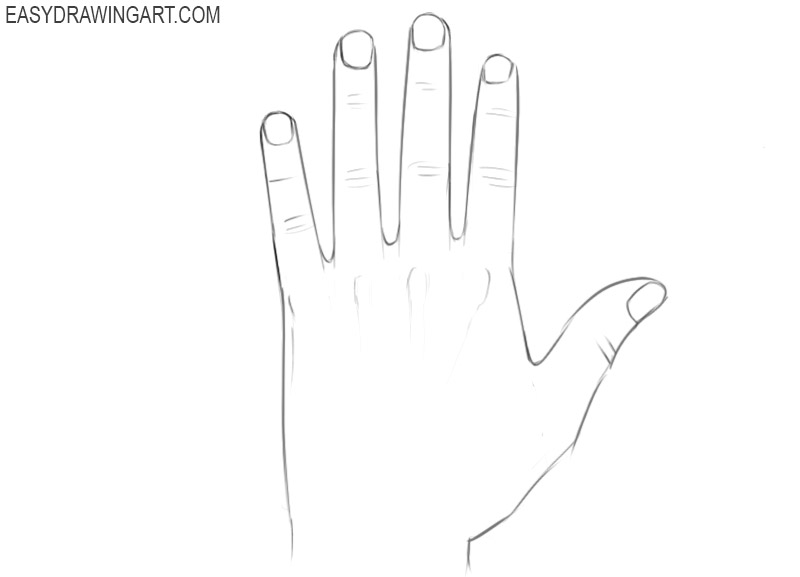 How to draw hands and fingers