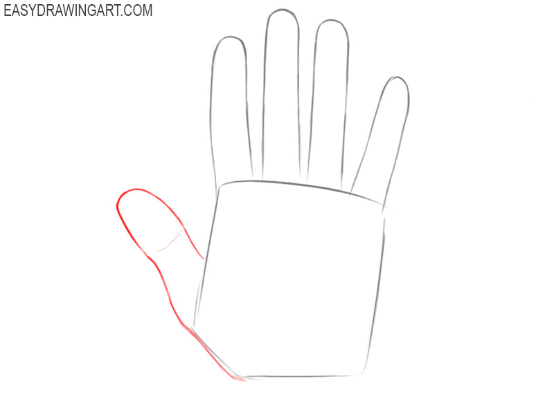 How to draw hands for beginners easy