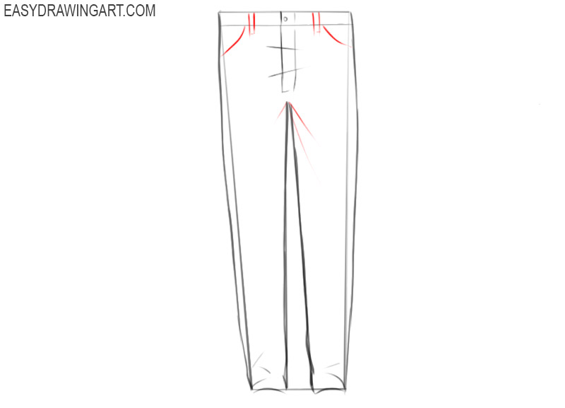 How to draw jeans easy