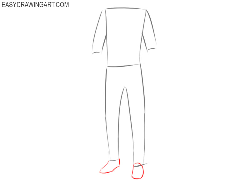 How to draw male clothes