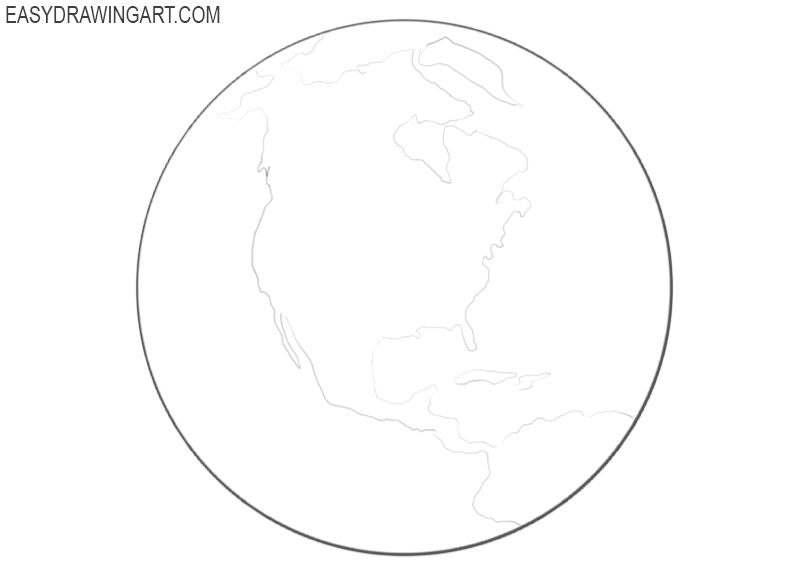 How to draw the Earth easy
