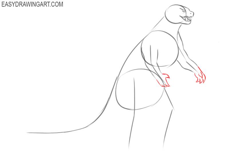 How to sketch Godzilla