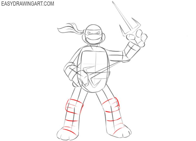 How to sketch a Ninja Turtle