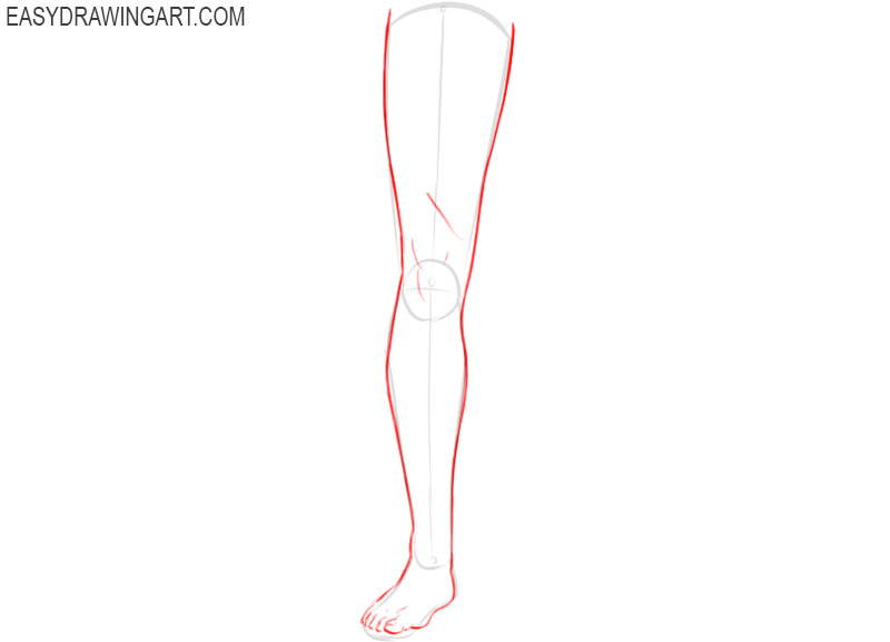 How to sketch legs step by step