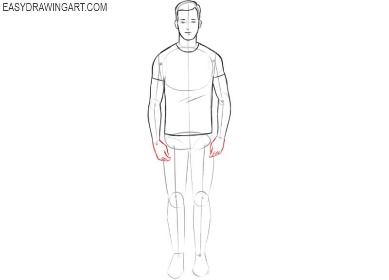 Human body drawing