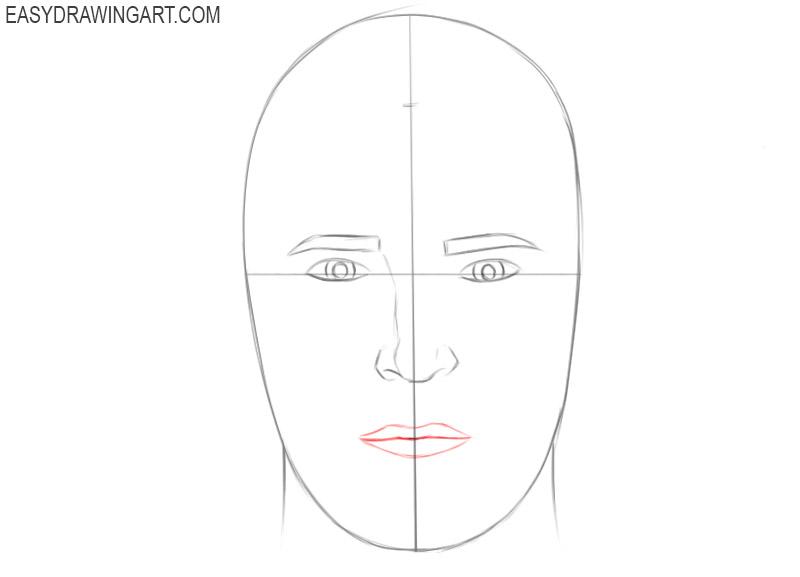 Human head drawing