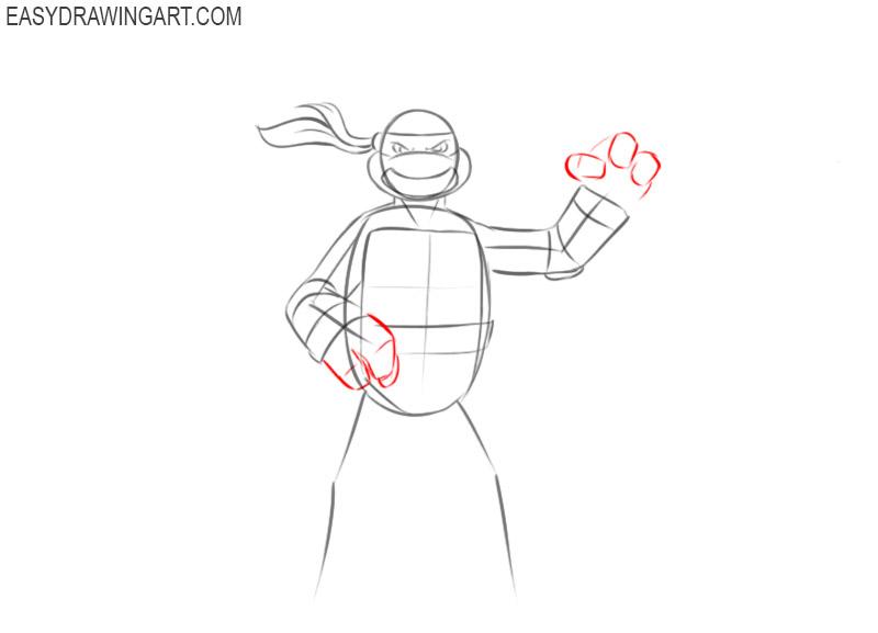 Learn how to draw a Ninja Turtle