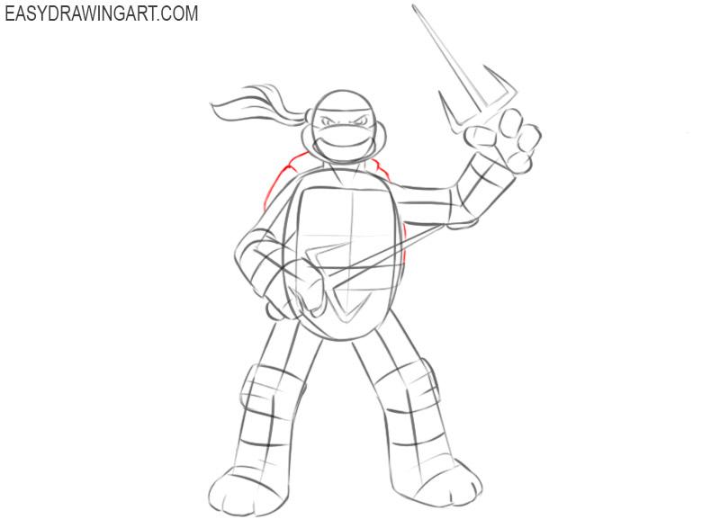 Ninja Turtle drawing guide